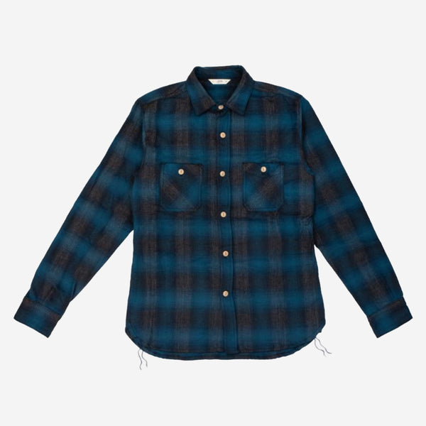 3Sixteen - Utility Flannel Workshirt - Navy/Black Ombre