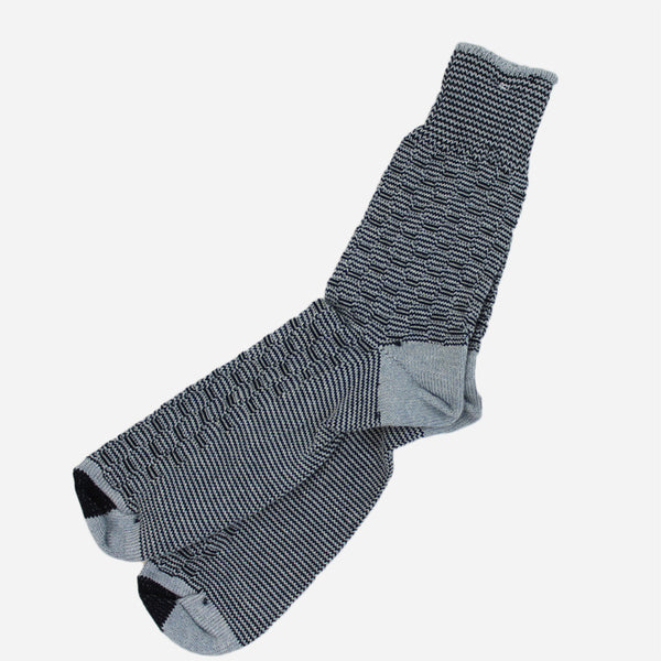 Anonymous Ism - Waffle 1x1 Three Quarter Socks - Navy