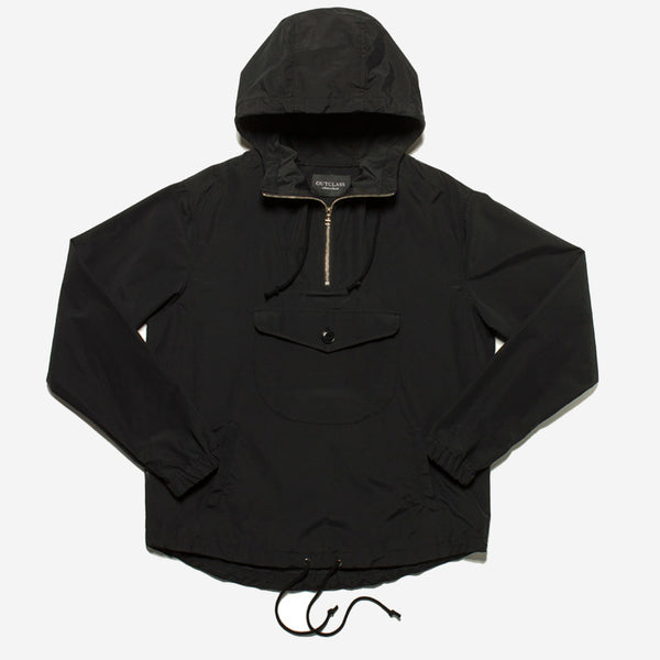 Outclass Attire - Water Repellent Anorak Jacket - Black