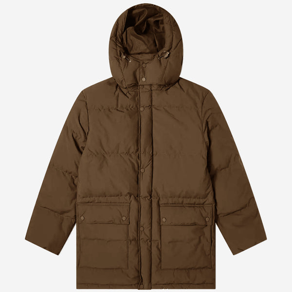 White Goose Down Parka - Dark Khaki