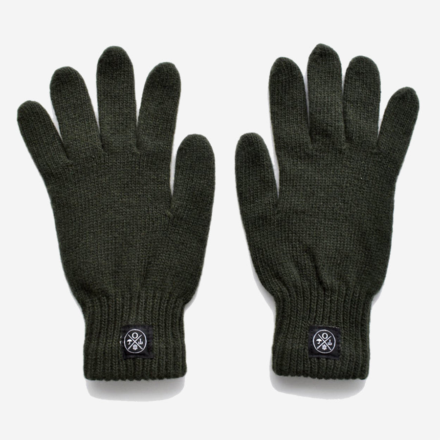 Wool Gloves - Olive