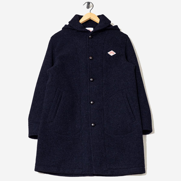 Wool Mossa Long Coat - Navy