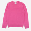 Merino Wool Crew Sweater - Bubblegum Pink