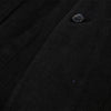 Workwear Blazer Jacket - Cotton/Linen Herringbone Black
