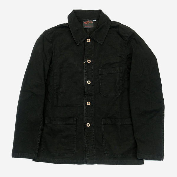 Workwear Chore Jacket - Broken Twill Black