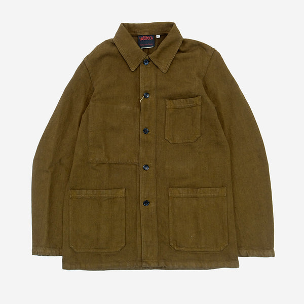 Workwear Chore Jacket - Cotton/Linen Herringbone Caramel