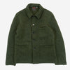 Workwear Chore Jacket - Wool Herringbone Khaki/Black
