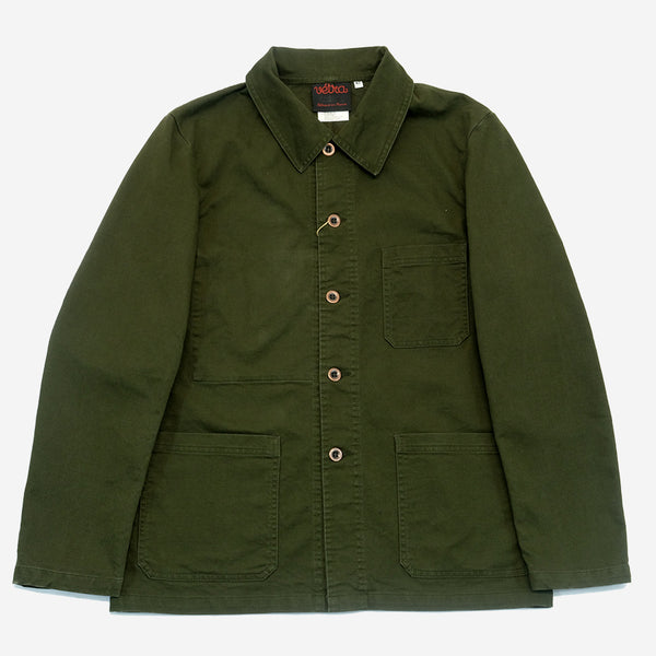 Vetra - Workwear Chore Jacket - Khaki Broken Twill