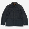Vetra - Workwear Chore Jacket - Navy Cotton/Linen Herringbone