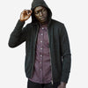 Outclass Attire - Zip-Up Wool Hoodie - Charcoal Grey
