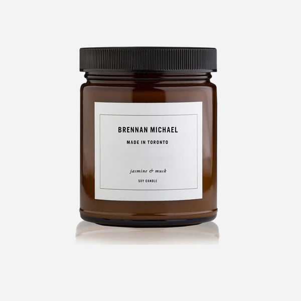 Brennan Michael - jasmine & musk Scented Candle