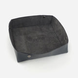 Woolfell - Leather Tray - Black