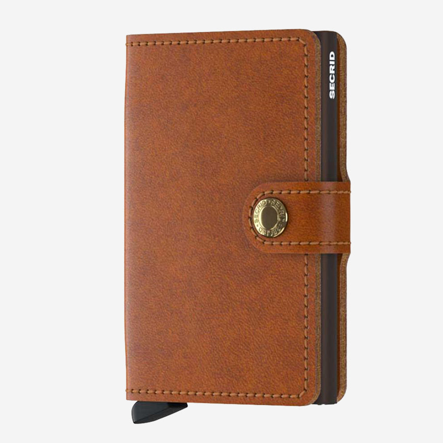 Securid - Mini Wallet - Cognac Leather