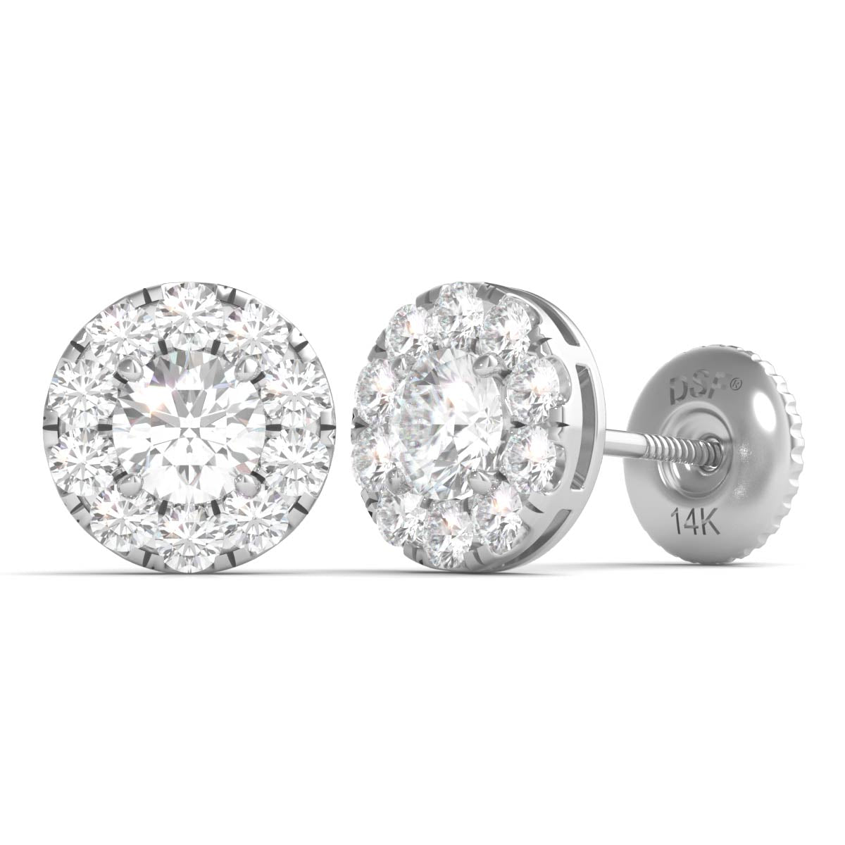 priceless certified gift gold diamond stud igi white in product