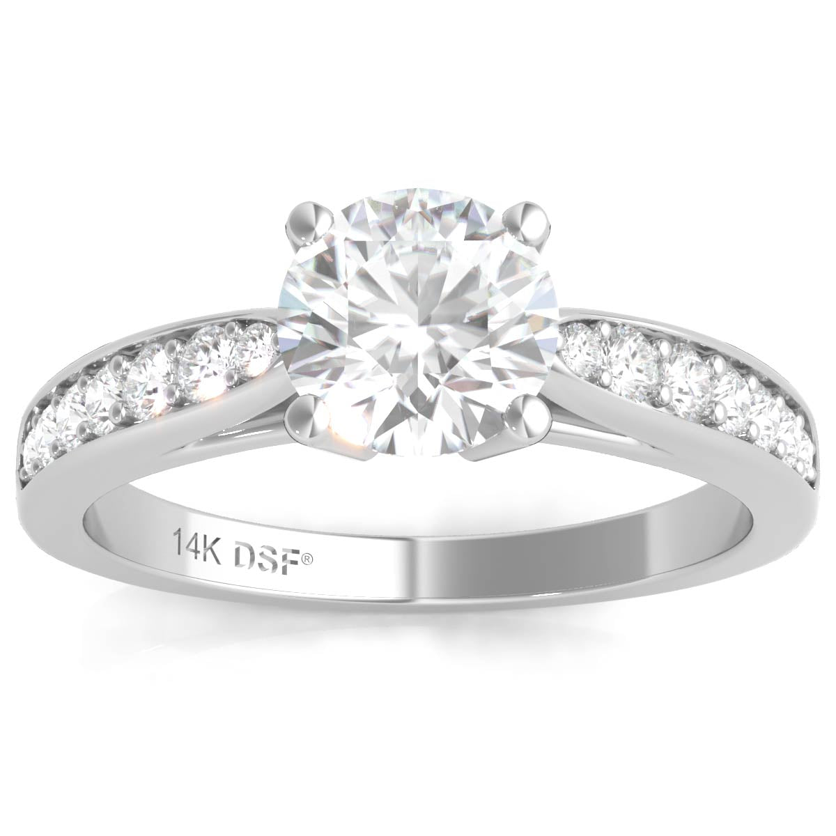 j in ct rings gold brilliant white diamond da solitaire certified ring engagement round