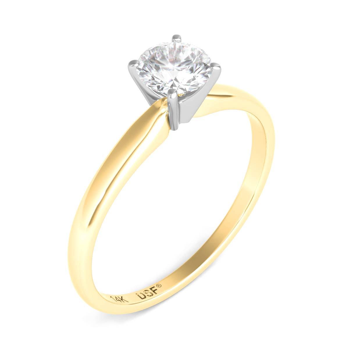 round style g carat diamond with cut classic solitaire ring