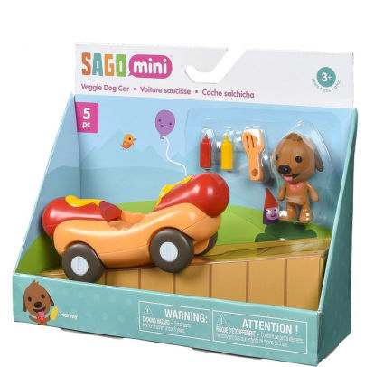 Sago Mini Harvey's Veggie Hot Dog Car in Red | Sweet Threads