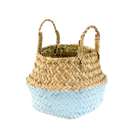 Indaba Baby Belly Basket in Sky Blue | Sweet Threads