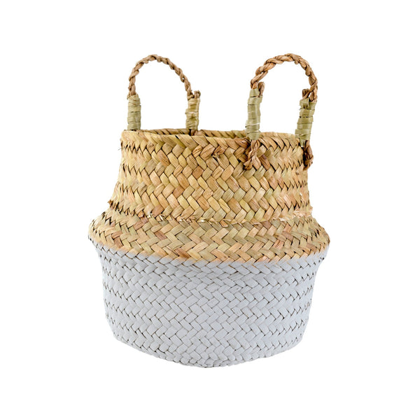 Indaba Baby Belly Basket in Stone | Sweet Threads