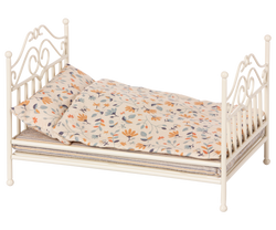 Maileg Vintage Micro Bed in Soft Sand | Sweet Threads