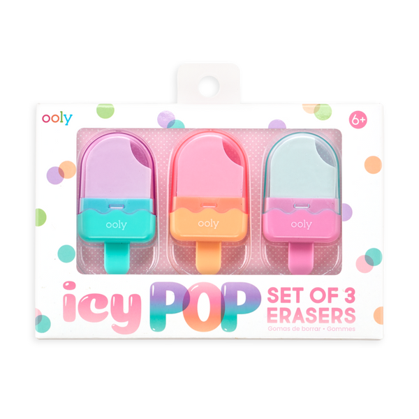 OOLY Icy Pop Erasers - Set of 3