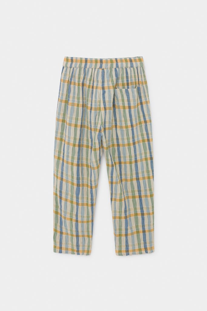 Bobo Choses Checker Baggy Trousers in Turtledove