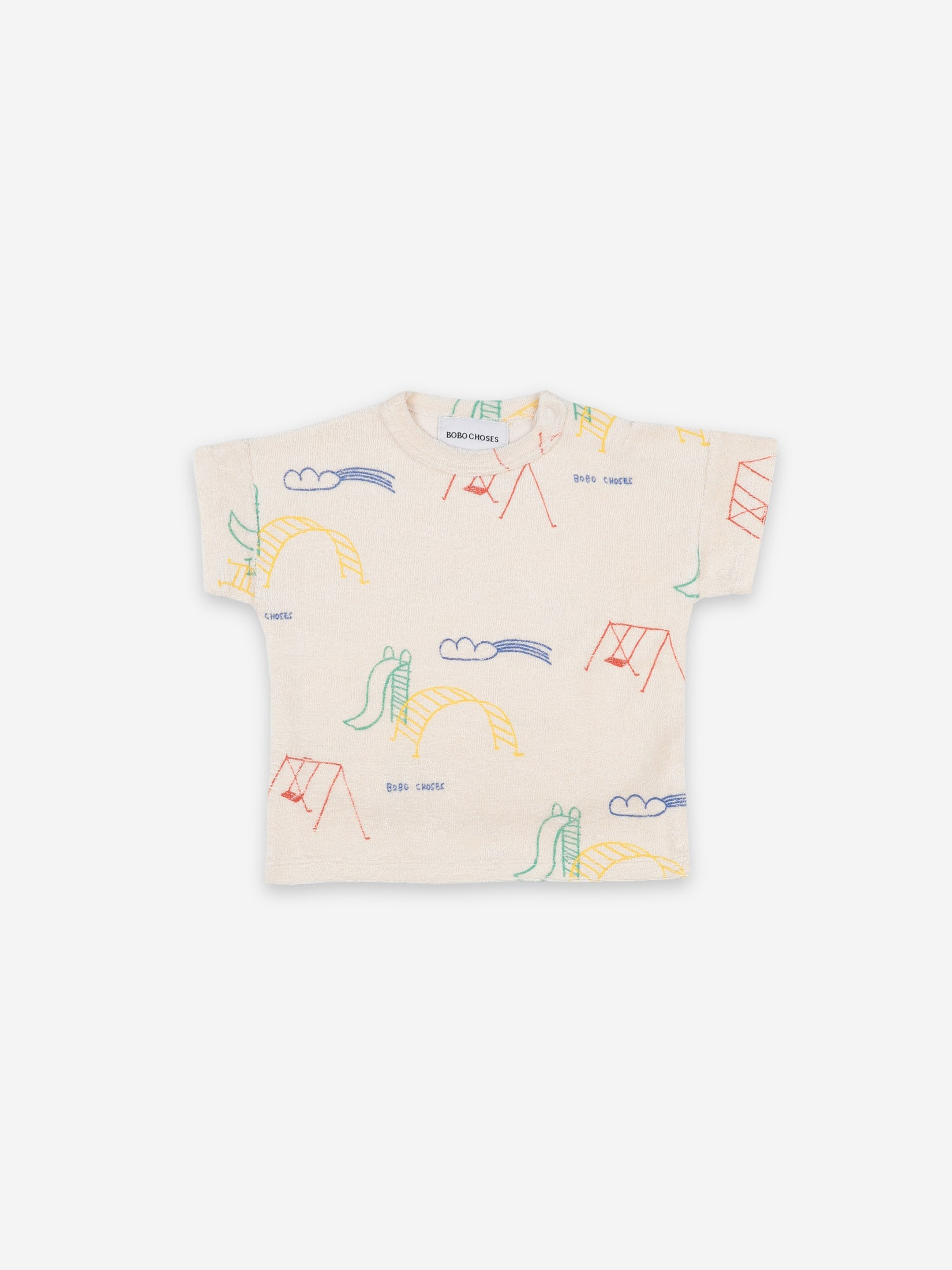 Bobo Choses Play Ground All Over Short Sleeve T-Shirt | Sweet Threads