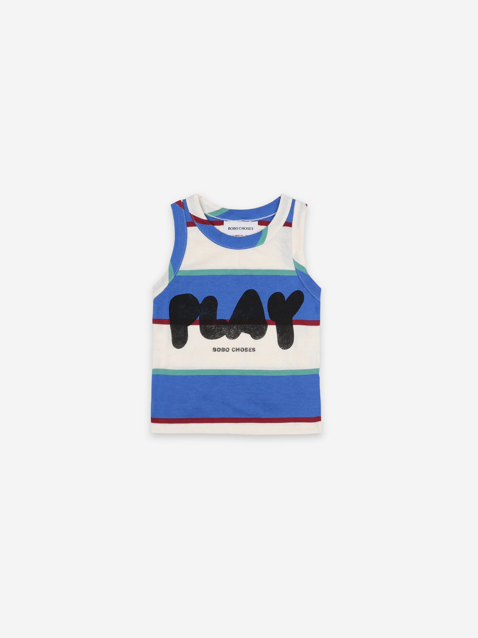 Bobo Choses Kids Play Stripes Tank Top | Sweet Threads