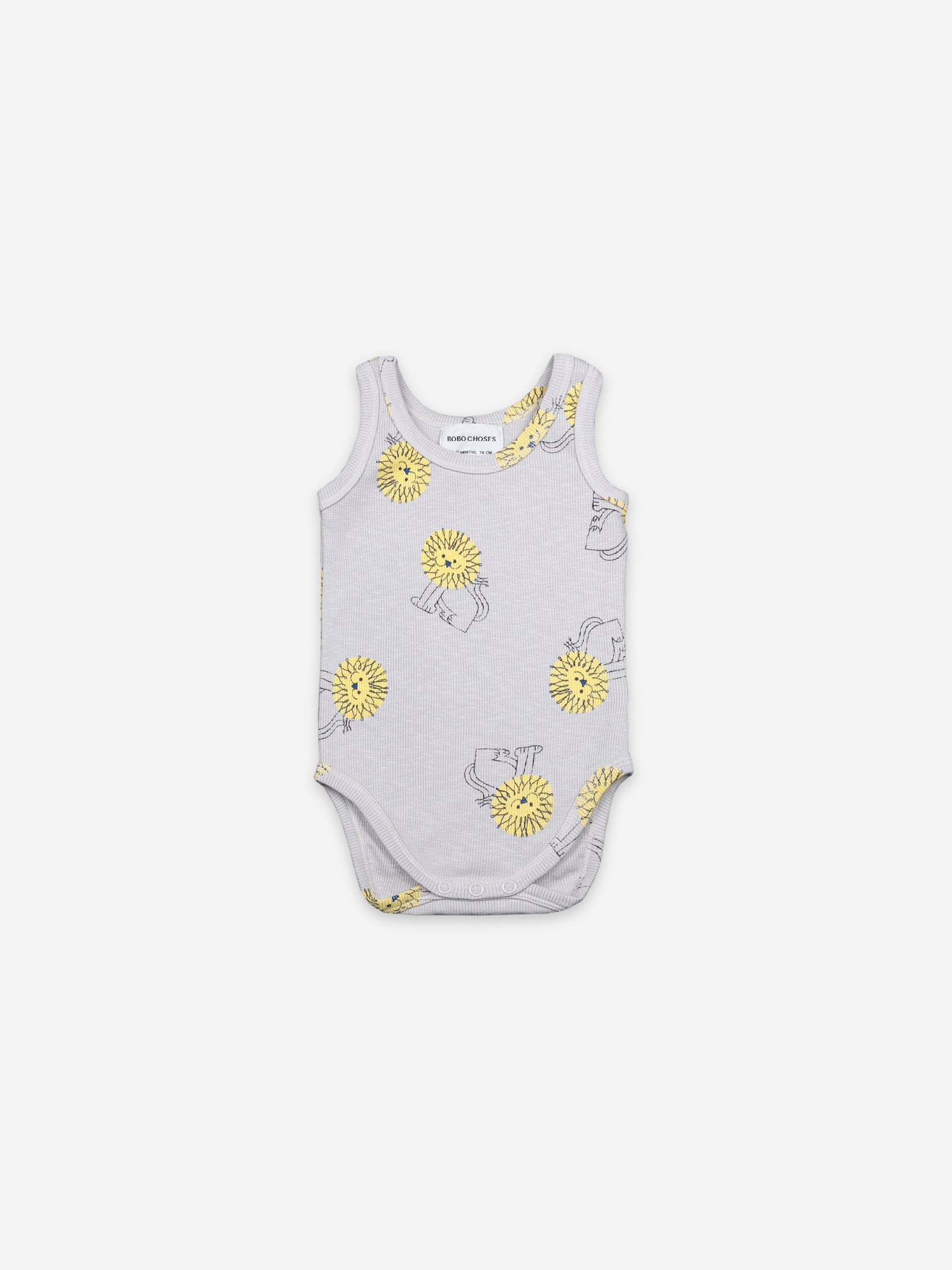 Bobo Choses Baby Pet a Lion Sleeveless Body | Sweet Threads