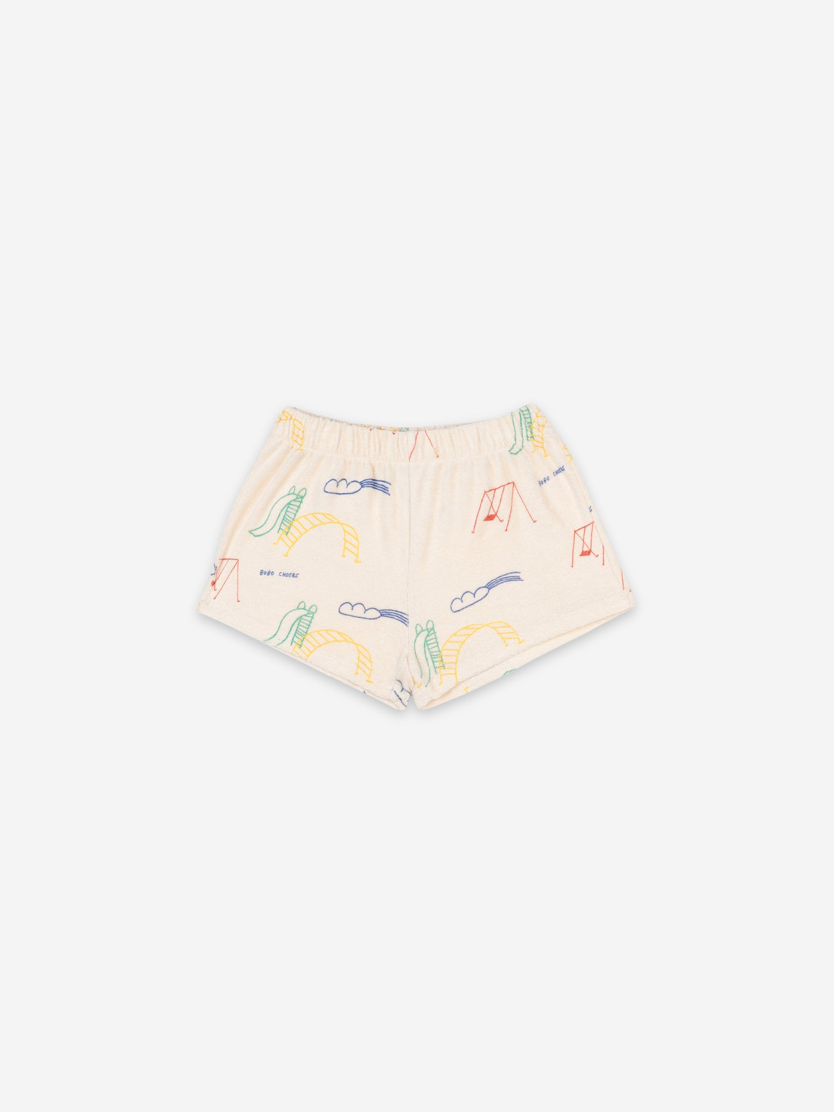 Bobo Choses Kids Play Ground All Over Terry Fleece Shorts | Sweet Threads
