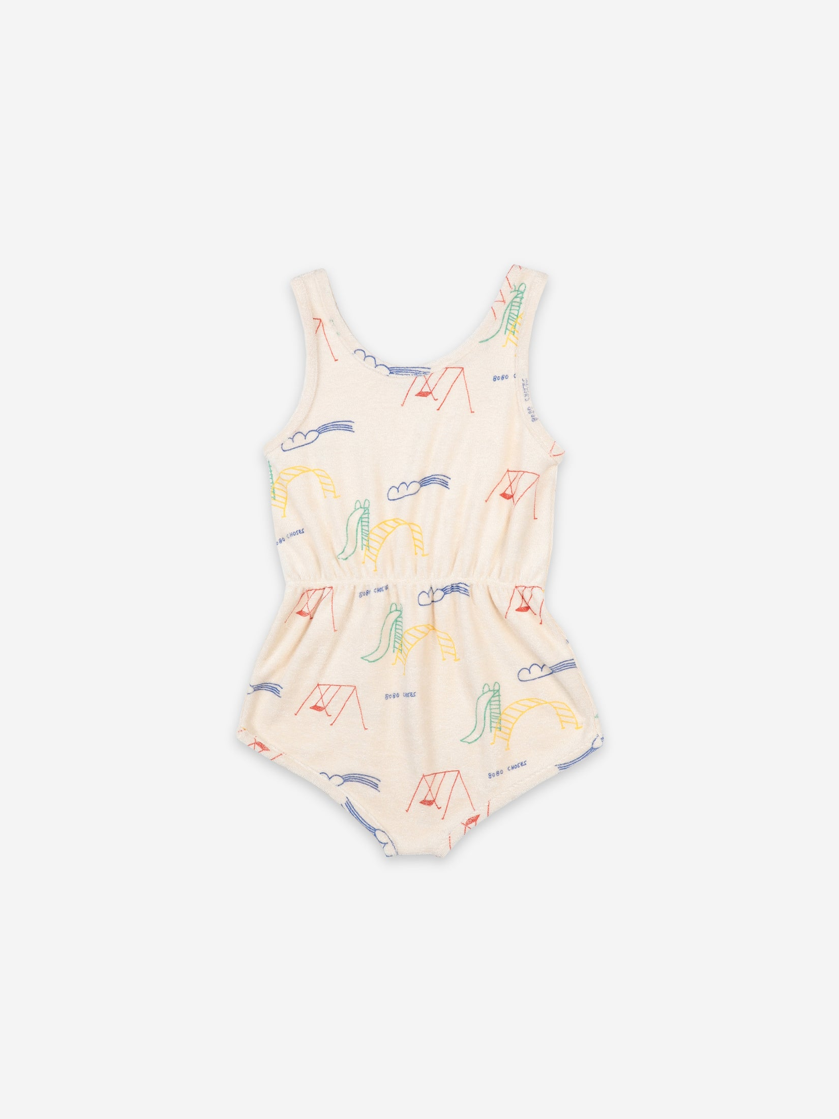 Bobo Choses Kids Playground All Over Terry Fleece Playsuit | Sweet Threads