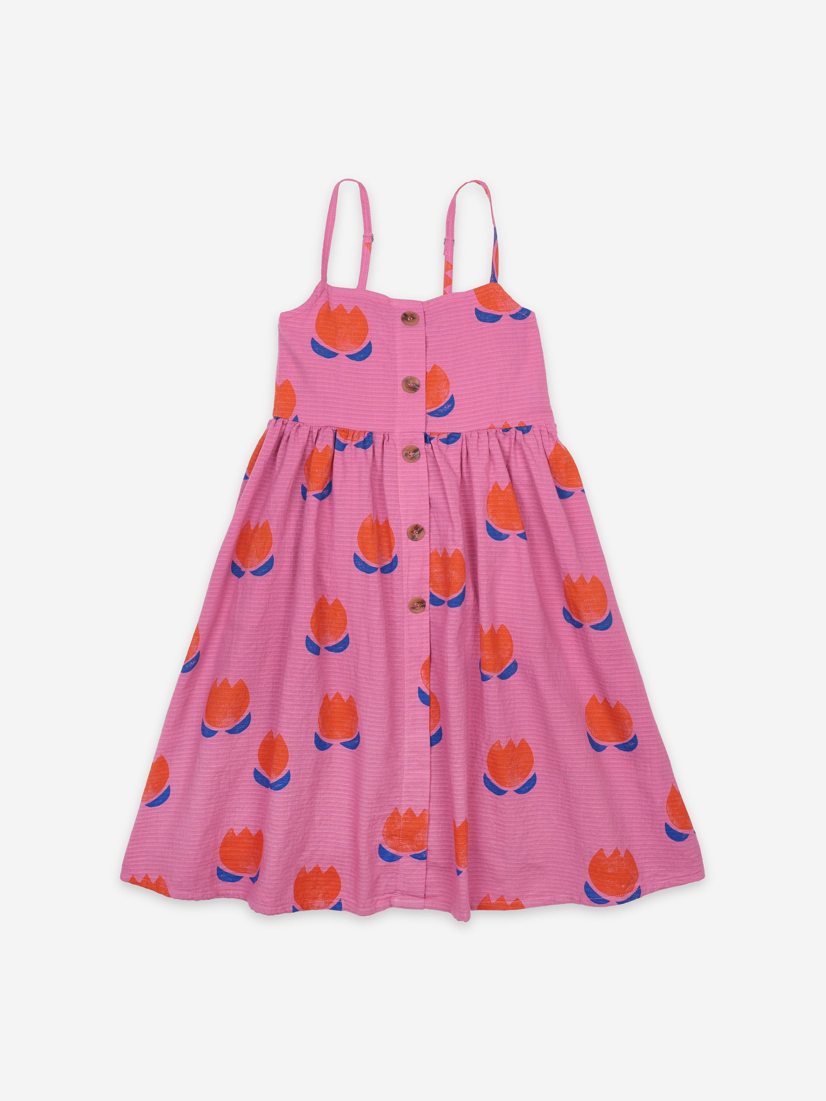 Bobo Choses Kids Chocolate Flower All Over Woven Dress | Sweet Threads