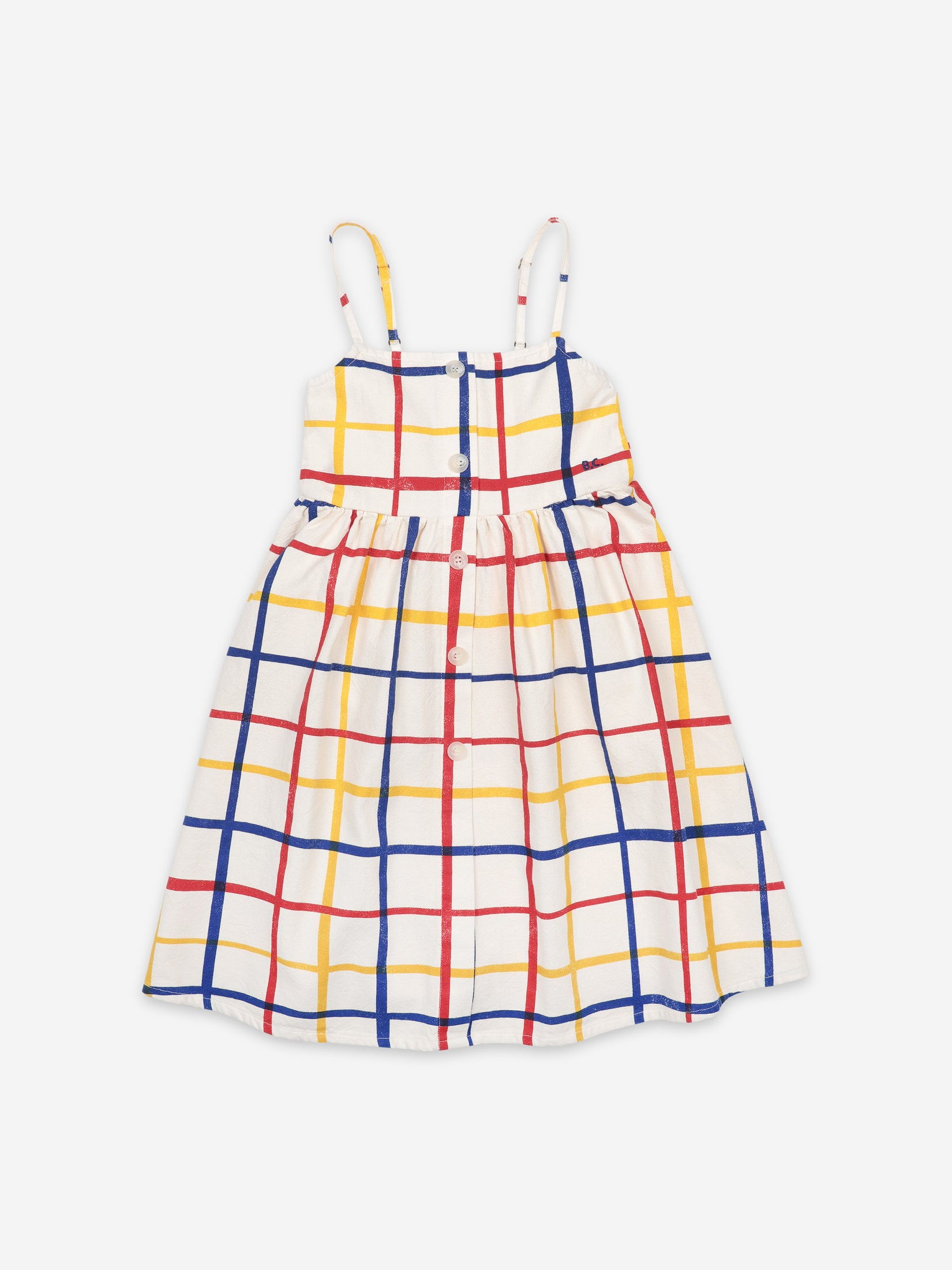 Bobo Choses Kids Multicolored Checkered Woven Dress | Sweet Threads