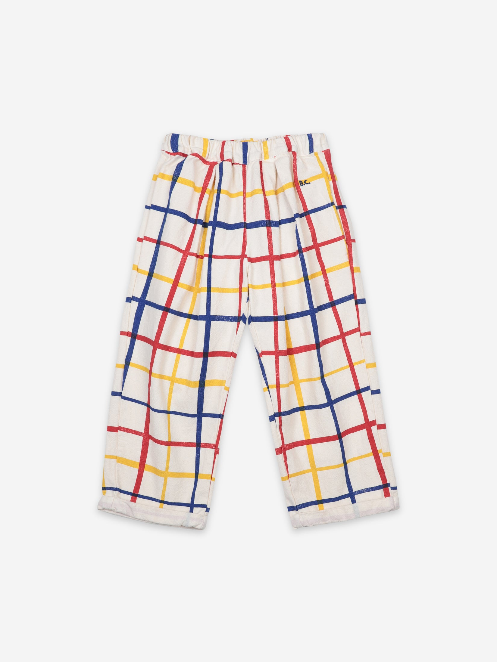 Bobo Choses Kids Multicolored Checkered Baggy Trousers | Sweet Threads