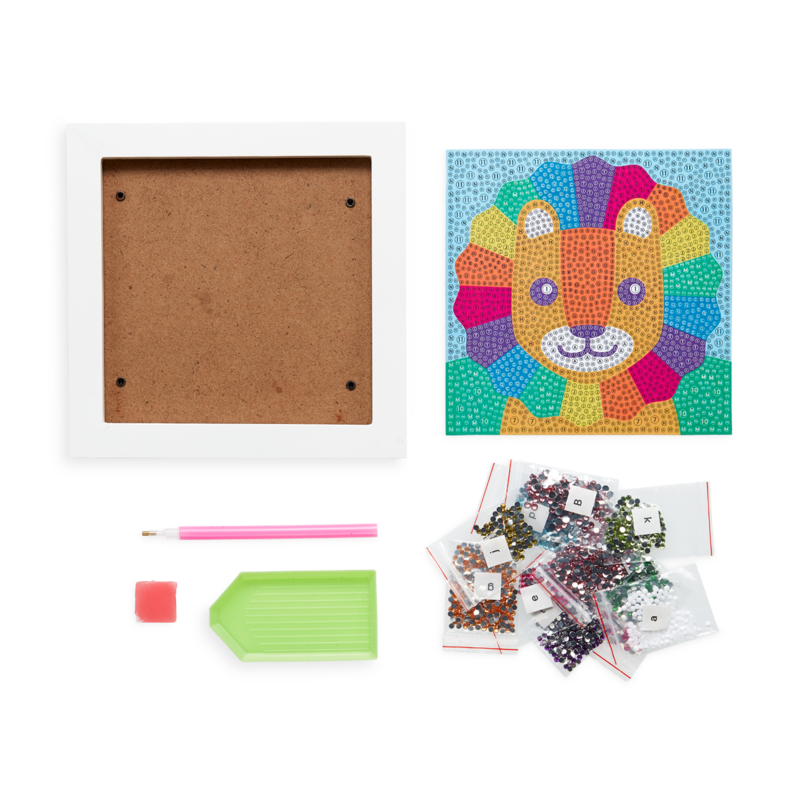 OOLY Razzle Dazzle Lil Lion DIY Gem Art Kit