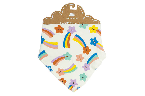 Angel Dear Shooting Stars Bandana Bib in Pink Multi