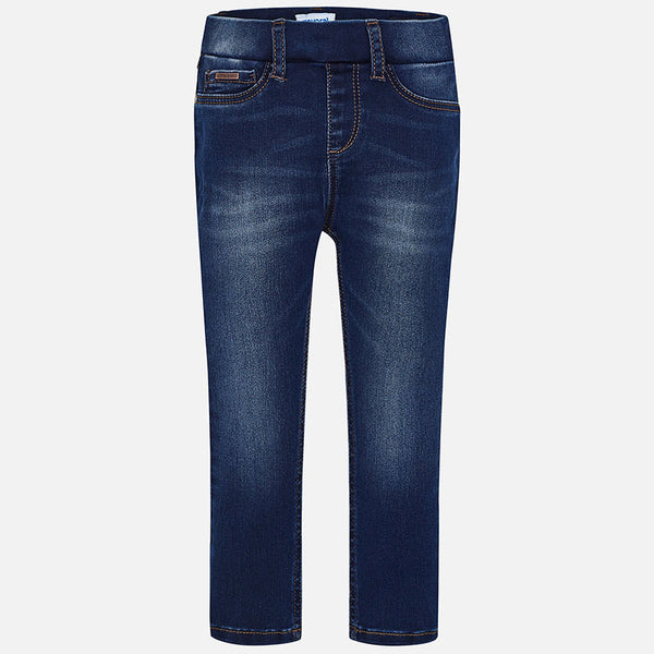 Mayoral Girls Super Skinny Pants in Basic Denim | Sweet Threads