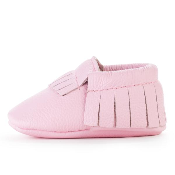 Birdrock Baby Moccasins in Light Pink