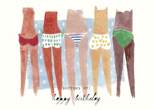 Mr Boddington BOTTOMS UP- GREETING CARD | Sweet Threads