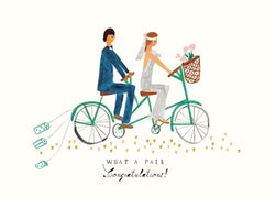 Mr. Boddington TIN CANS ON THE TANDEM - GREETING CARD | Sweet Threads