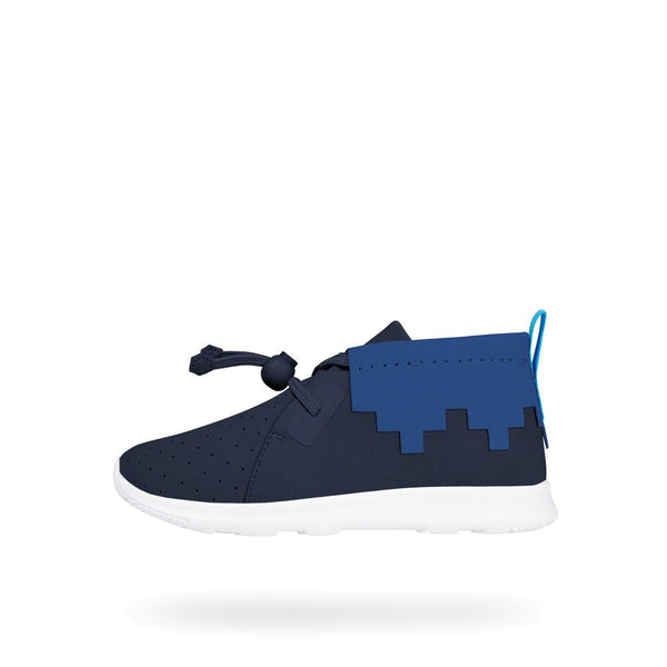 Apollo Mid Child- Regatta Blue/ Victorian Black/ Shell White by Native Shoes