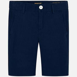 Mayoral Tailored Seersucker Bermudas in Navy | Sweet Threads