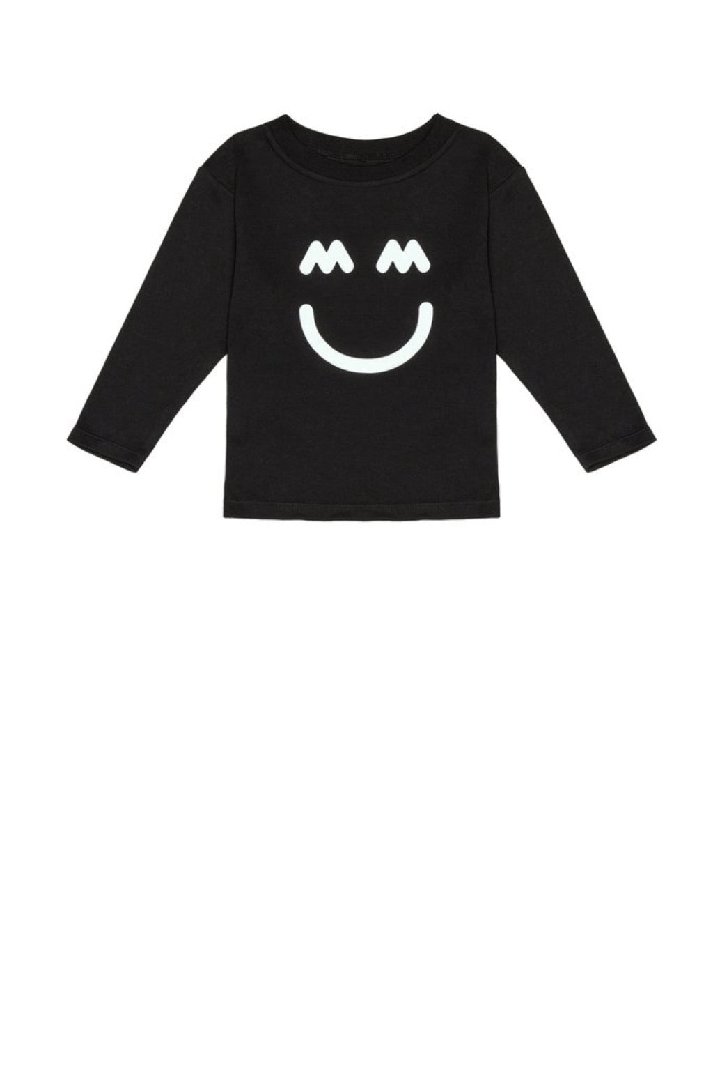 Miles and Milan The Happy Tee in Black