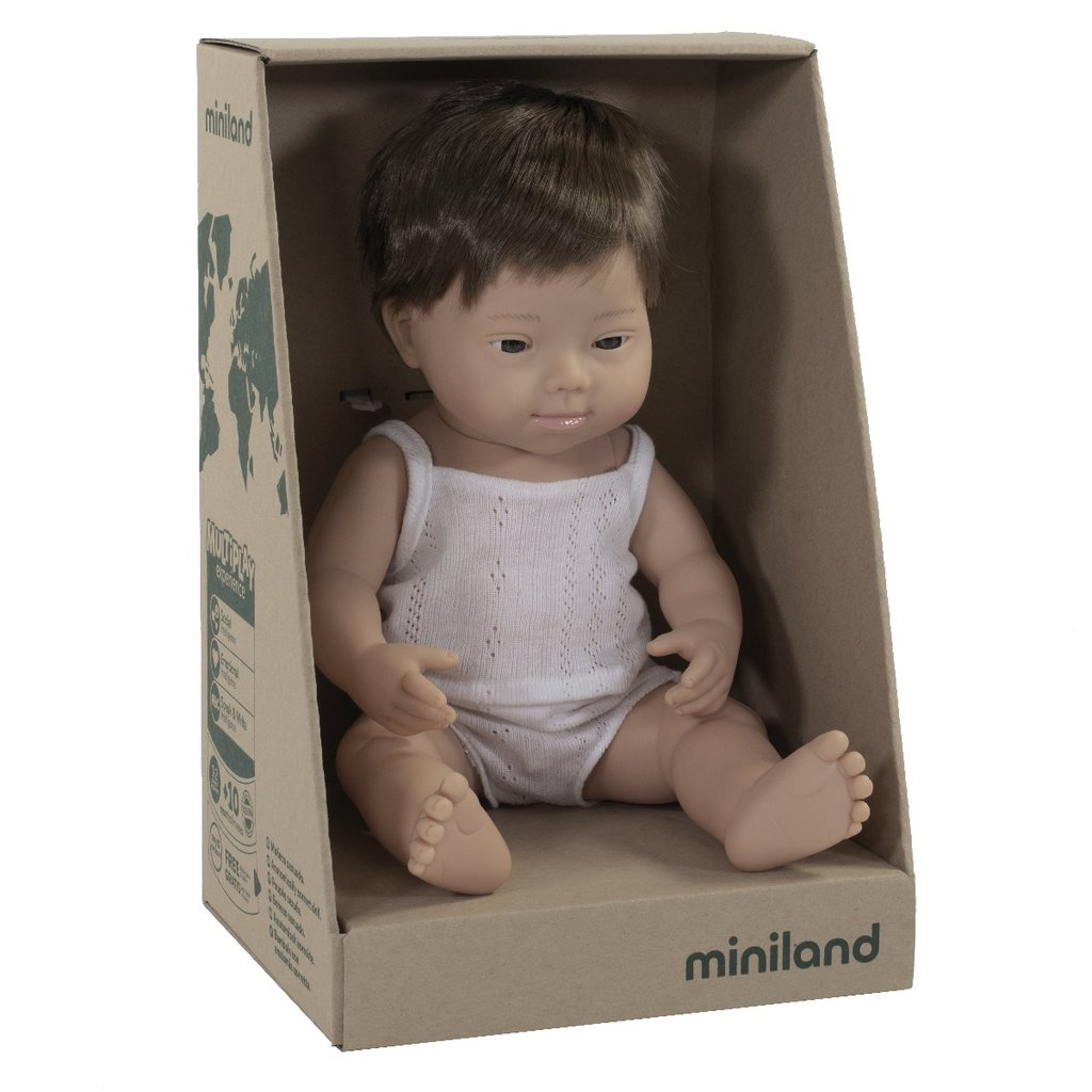 Miniland Baby Doll Down Syndrome Caucasian Boy