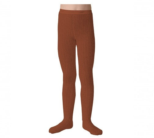 Collegien Ribbed Tights in Spice Bread / Pain De Epice | Sweet Threads
