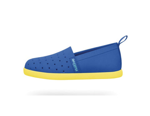 Native Shoes Venice Child Victoria Bue/Crayon Yellow | Sweet Threads