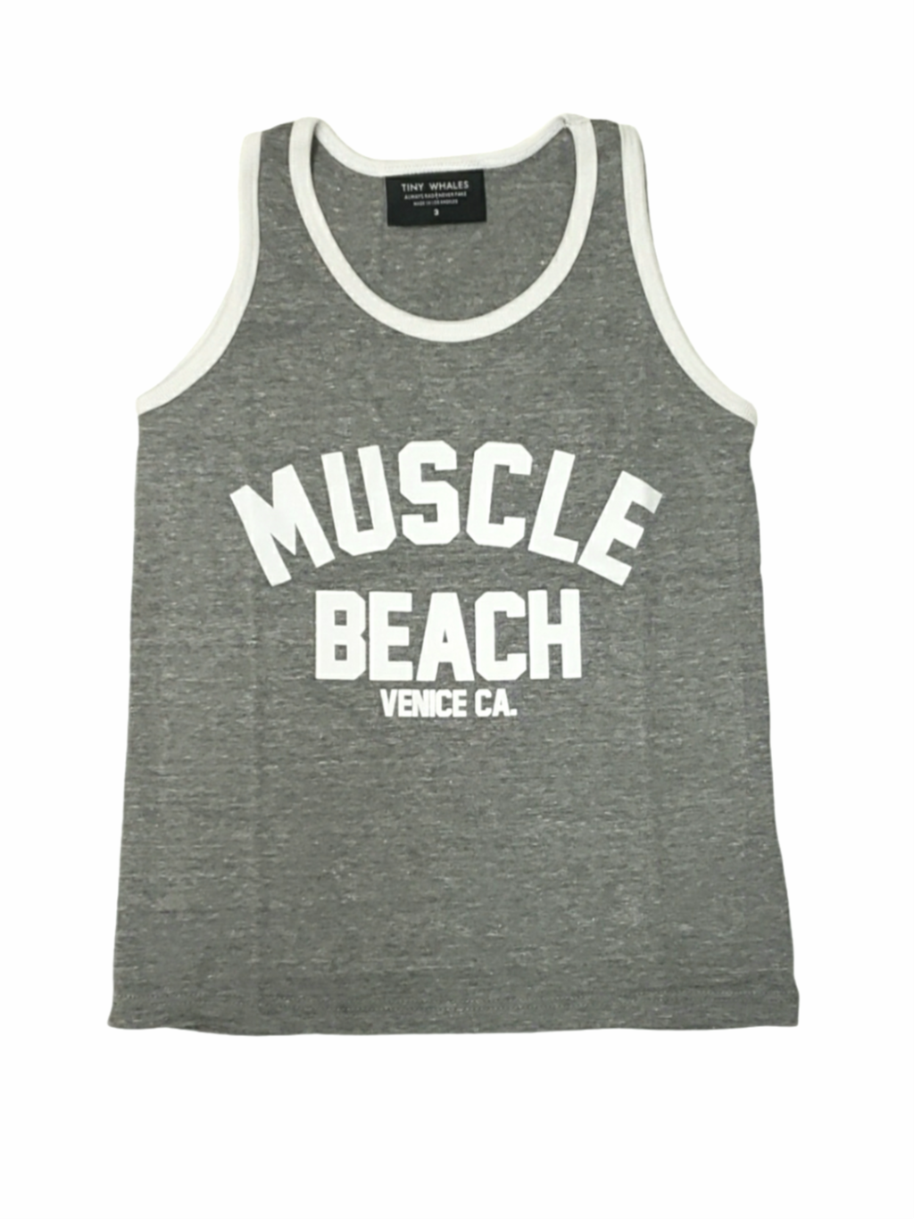 Tiny Whales Muscle Beach Tank Top