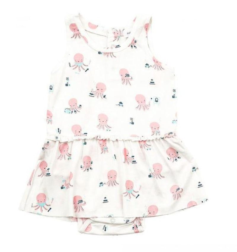 Angel Dear Octopus Playtime Bodysuit w/ Skirt in Pink