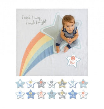 Lulujo Baby I Wish I May Baby's First Year Blanket/Cards | Sweet Threads