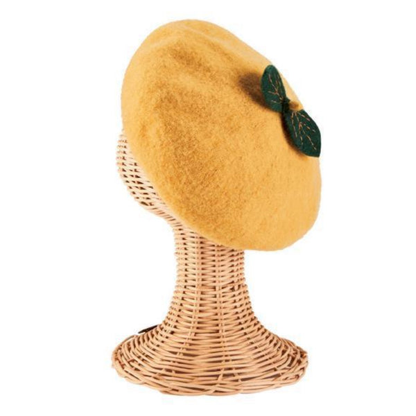 San Diego Hat Kids Fruit Beret in Yellow